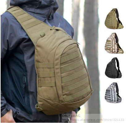 2467598bef Field Tactical Chest Sling Pack Outdoor Sport A4 One Single Shoulder Man  Big Large Ride Travel Backpack Bag Advanced Tactical