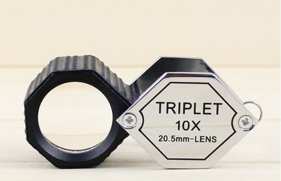 DHL 50pcs 10x 20 5mm Triplet Eye Loupe Magnifier Magnifying Glass For Jewelers Diamond