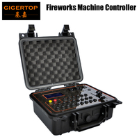 Gigertop Stage Cold Fireworks Machine Controller Box LCD Display Chinese/English Version 110V 220V Battery 10000mha Wireless/DMX
