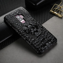 For Samsung Galaxy S9 Plus S9+ Case Luxury Crocodile Pattern Case For Samsung S9 Genuine Cowhide Leather Cover for Galaxy S9 samsung s9 case luxury original genuine suede leather protector case samsung galaxy s9 plus case galaxy s9 s9 ef xg960 ef xg965