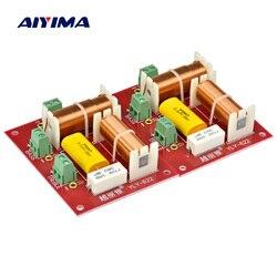 Aiyima 200 w 2 pçs 2 vias agudos alto-falante baixo crossover áudio tweeter woofer 2 unidades alto-falantes crossover filtro divisor de freqüência