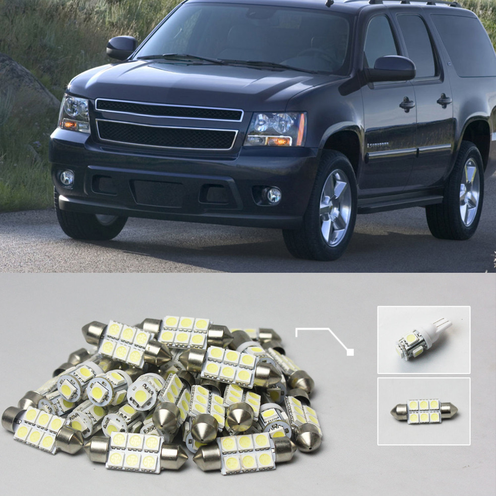 10x white led lights interior package kit 35 for chevy tahoe