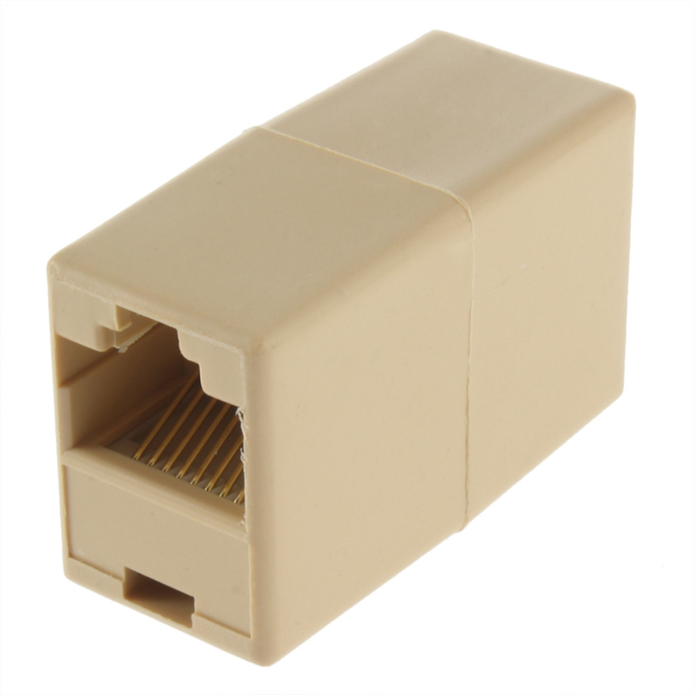 1Pcs RJ45 for CAT5 Ethernet Cable LAN Port 1 to 1 Socket Splitter Connector Adapter 10 pieces butt type ethernet network lan cable connectors rj45 female socket to jack led strip ip68 waterproof connector adapter
