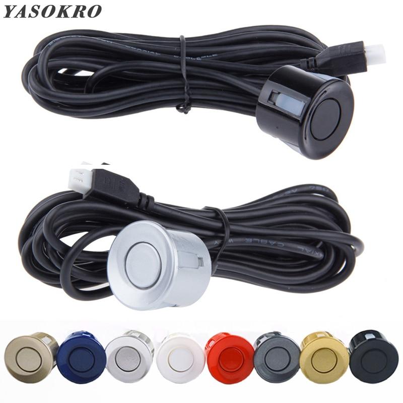 1 peça kit sensor de estacionamento do carro sensores parktronic invertendo radar monitor detecter som alerta indicador sistema 6 cores Sensores de estacionamento     - title=