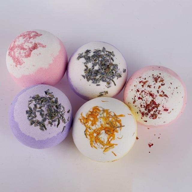 Hot Sell Dry Flower Moisturizing Bubble Bath Bomb Ball Essential Oil Bath SPA Stress Relief Exfoliating Bath Salt Bathing 2