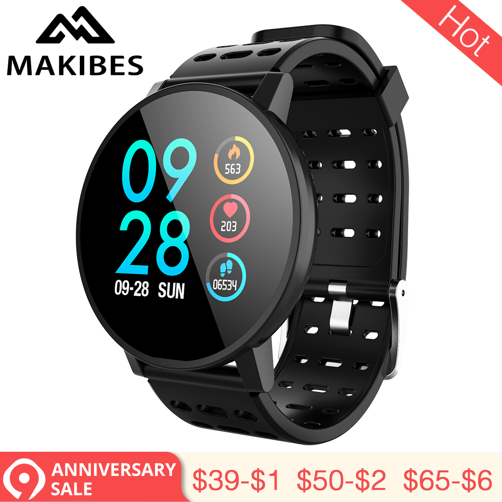 3.28 Makibes T3 Smart watch waterproof Activity Fitness tracker HR Blood oxygen Blood pressure Clock Men women smartwatch PK V11