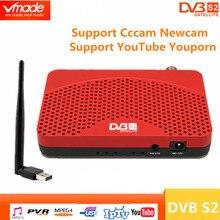 DVB S2 mini DVB TV BOX Ricevitore Digitale Satellitare supporto Biss Youtube IPTV Cccam USB 2.0 + USB wifi dongle set top box