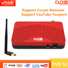 Dvb s2 소형 dvb 텔레비젼 상자 디지털 방식으로 인공위성 수신기 지원 biss youtube iptv cccam usb 2.0 + usb wifi dongle 고정되는 최고 상자