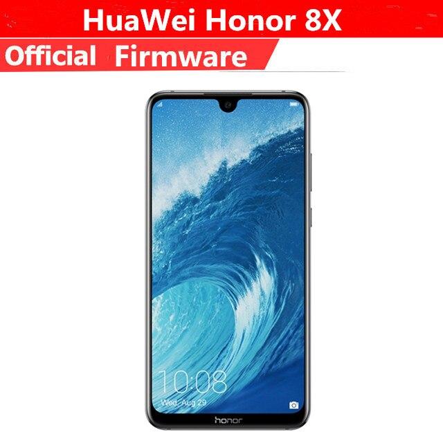 """Оригинал Huawei Honor 8 X 4G LTE Мобильного Телефона Kirin 710 Android 8,1 6,5 """"FHD 2340X1080 6 ГБ Оперативная память 128 ГБ Встроенная память отпечатков пальцев 20.0MP"""