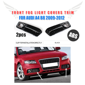 2 шт./компл. ABS передний противотуманный чехол для фар лампы отделкой маски подходят для Audi A4 B8 не-шлицевое соединение бампера 2009-2012 стайлинга... >> MCARCAR KIT Official Store