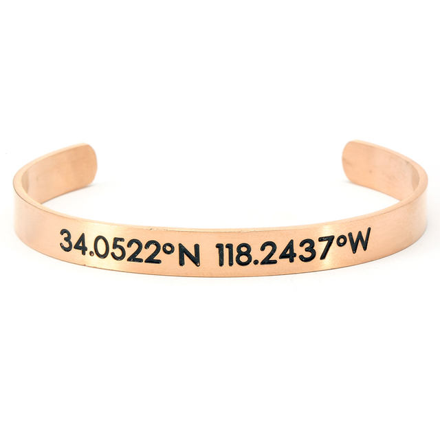 custom product longitude bracelet personalized latitude turntopretty men