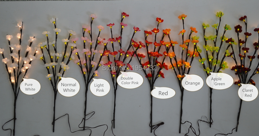 lighting twigs. led battery type blossom plum branch light 20 lighting twigs