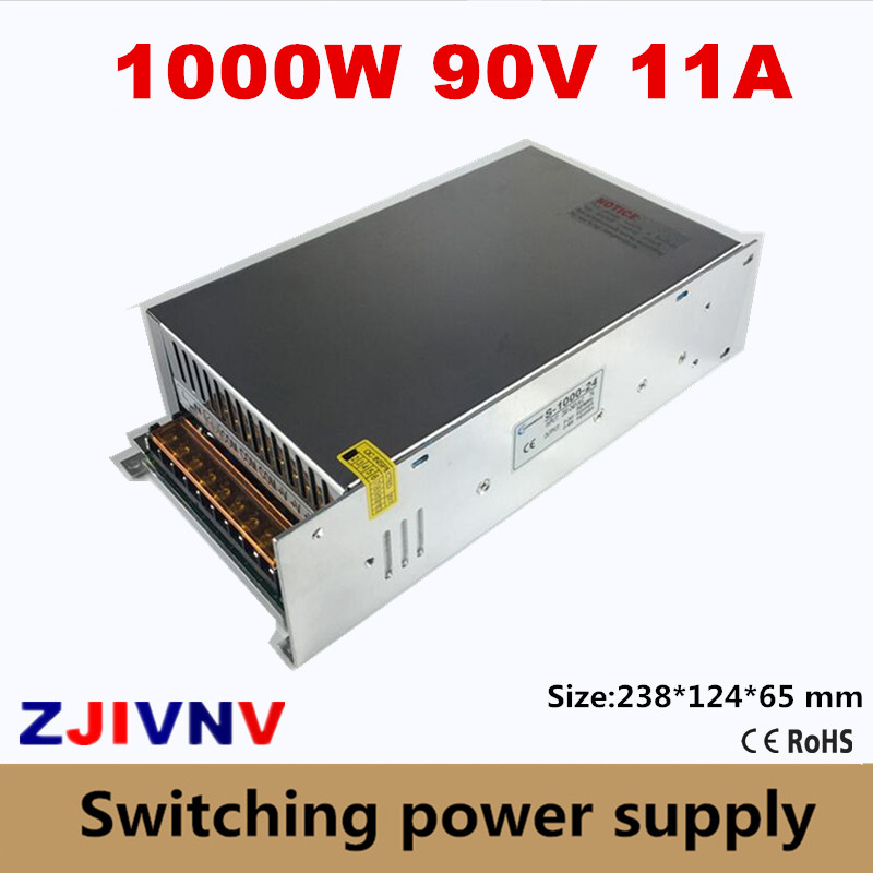 90v 11A Switching Power Supply 1000W input 200V~240V or 100v~130VAC AC/DC SMPS S-1000-90VDC CE APPROVAL platform shoes high heels women shoes zapatos mujer lolita shoes women pumps 2018 new fashion ladies shoes fish head high heel