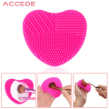 Rose Red Cosmetic Makeup Brush Cleaner Silicone Finger Glove Washing Scrubber Board Cleaning Mat Pad Tool Maquiagem Blush Brush