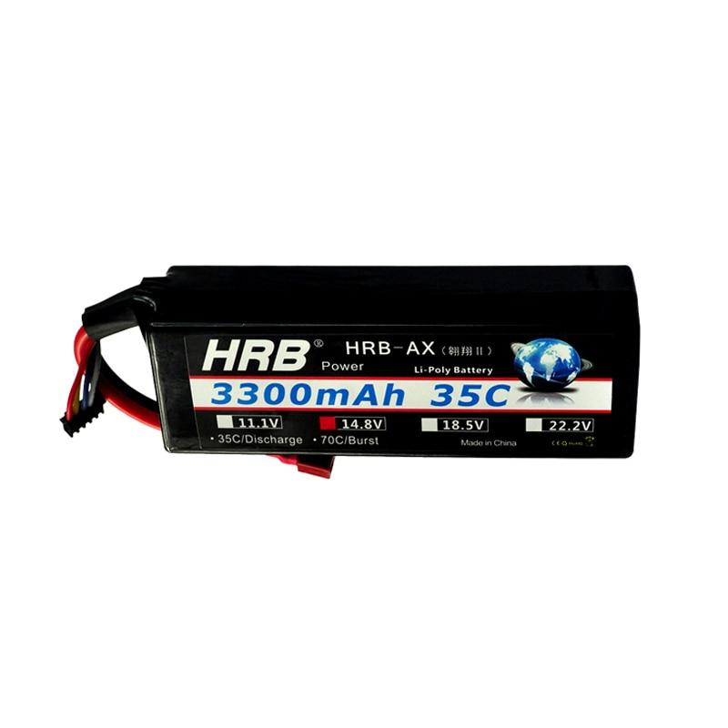 HRB RC Lipo 4S Batterie Dur Cas 14.8 V 3300 mah 35C MAX 70C 1/10 Échelle Traxxas Fiber De Carbone Pour Hélicoptères RC Camion De Voiture