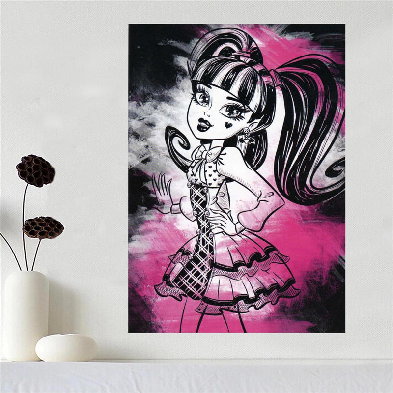 Custom Canvas Poster Art Monster High Home Decoration Poster Cloth Fabric Wall Poster Print Silk