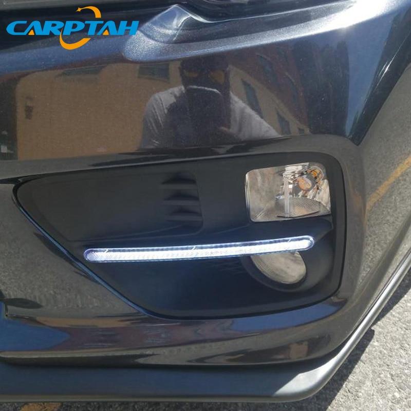 LED Daytime Running Light For Subaru WRX 2015 2016 2017 Waterproof 12V Yellow Turn Signal Indicator