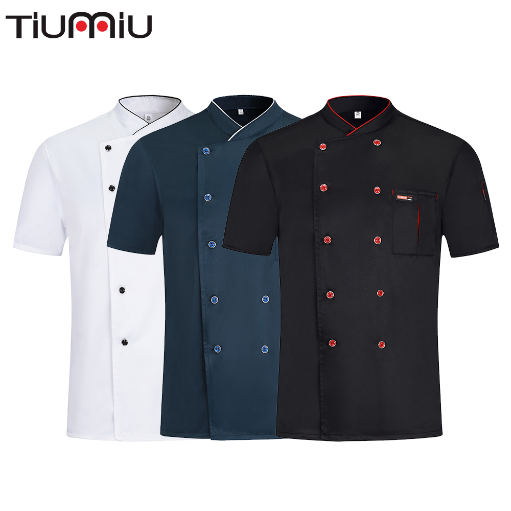 Unisex Chef Restaurant Uniform Party Work Clothes Breathable Unisex Shirt Wholesale Hotel Kitchen Bakery Barbershop Overalls