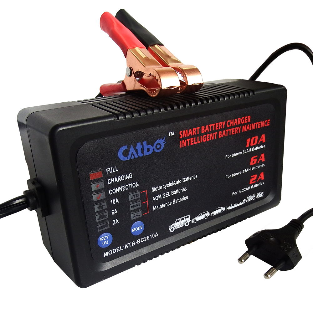 CATBO Motorcycle Battery Charger 6V12v All-Intelligent 6V Charger Auto High Power Battery Charger