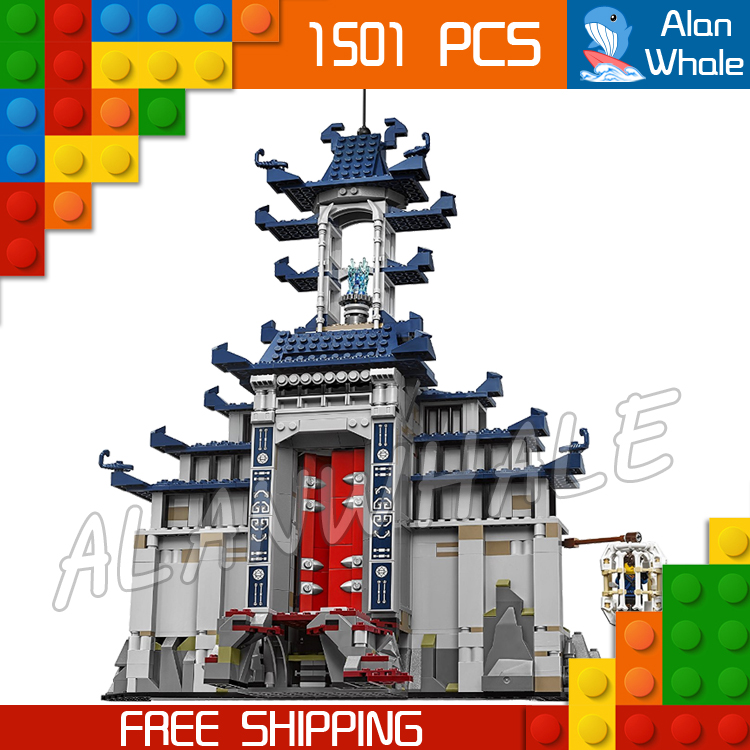 1501pcs New Ninja Ancient Temple Battle Ultimate Weapon 06058 Model Building Blocks Children Toys Bricks Compatible With lego th0757 thailand 1993 ancient temple ruins 4 new 0929
