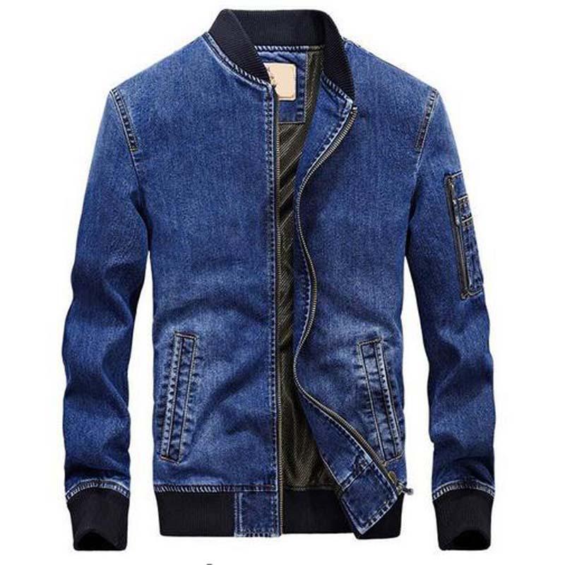 Chaqueta de jean para hombre chaquetas de mezclilla Para