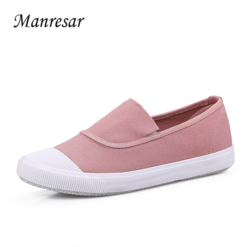 Manresar 2017 Women Flat Shoes Spring Slip-on Striped Canvas Shoes Women High Quality Breathable Women Zapatos Mujer Size 35-40 minika breathable mesh lace shoes women thick bottom shallow mouth women casual shoes slip on flat shoes women high quality