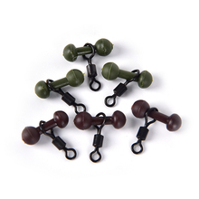 Carp Fishing Heli Chod Beads With UK 8# Ring Swivels Rubber Beads With Quick Change Swivels 30PCS 40pcs set carp fishing lead buffer beads carp coarse rig with quick change swivels pesca tackle accessories fishing tools