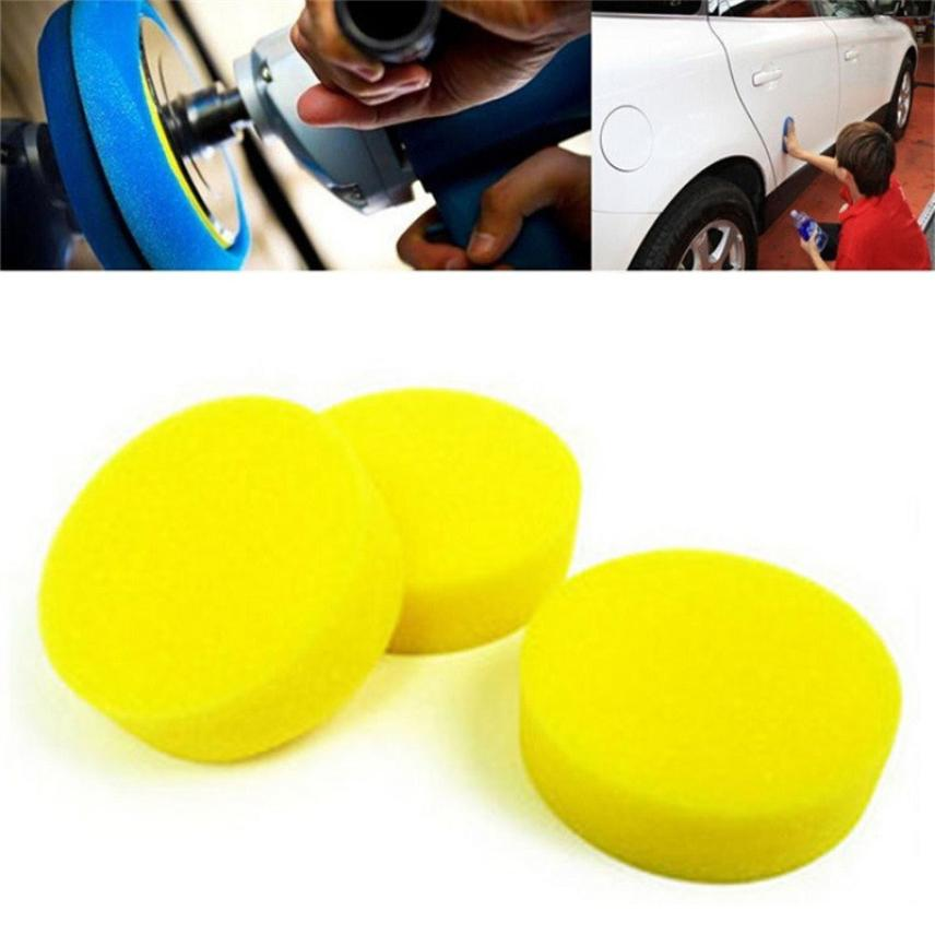 10Pcs Car Waxing Polish Foam Sponge Wax Applicator Cleaning Detailing Pads Sep 15 ...