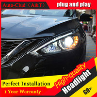 Auto Clud Car Styling 15 17 For Nissan Sylphy Sentra Headlights For Sentra Head Lamp Led