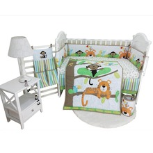Crib bedding set baby newborn comforter bumper sheet skirt