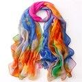 Новый 2016 летний стиль шарф для женщин высокое качество шифона шелковые платки и шарфы женский большой Cachecol
