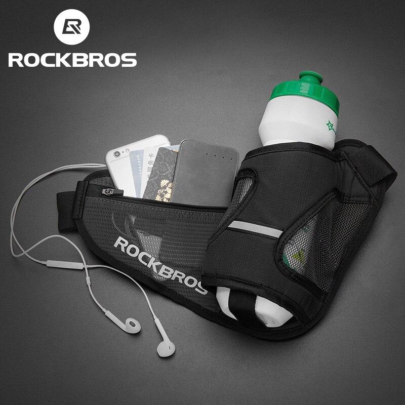 ROCKBROS светоотражающие велосипедные сумки бутылка воды Softback ремень велосипед велосипедный мешок Кемпинг путешествия фитнес бег спортивная ...