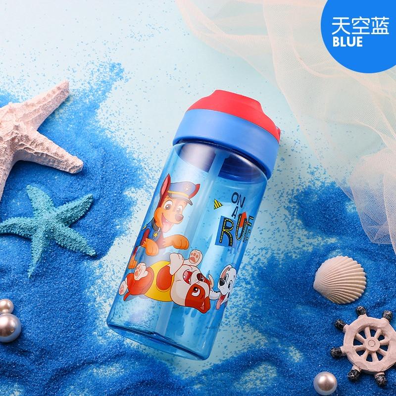 PAW PATROL BLUE RED ALUMINIUM BOTTLE JUICE DRINK WATER TRAVEL FLASK KID SCHOOL