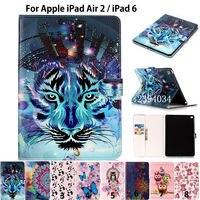 New Fashion Animal Print PU Leather For IPad Air 2 Case For Apple IPad Air 2