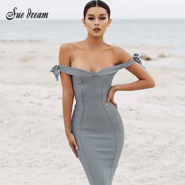 2018 Summer new style women fashion sleeveless slash neck sexy bodycon  backless celebrity party elegant gray fb4c7a3b8c5f
