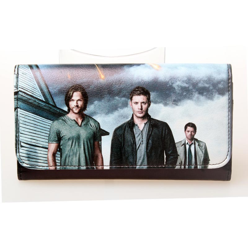 Supernatural Sam and dean Winchester brothers showed signs NWT permission Long wallet DFT-1386