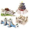 3D Деревянные Головоломки Игрушки Модель Строительные Комплекты Ручной Сборки DIY Обучения Обучающие Игрушки Для Детей Дети Подарок