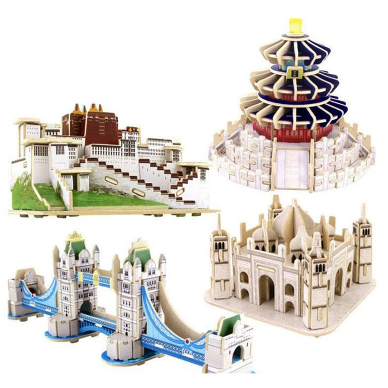 3D Wooden Puzzle Toy Model Building Kits Handmade Assembly DIY Learning Educational  Toys For Children Kids Gift qiyun 3 d wooden puzzle children and adult s educational building blocks puzzle toy pig model