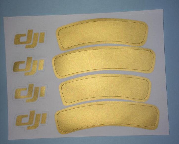 2pcs/lot accessories golden Phantom 1/2/3 universal housing Sticker for DJI Phantom 3