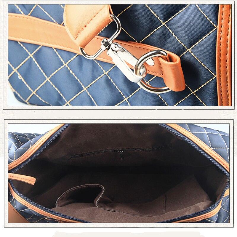 Mode Stora Herr Resväskor Polyester Plaid Lattice Duffle Business - Väskor för bagage och resor - Foto 5