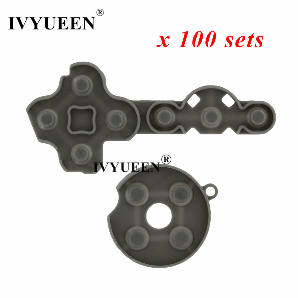 IVYUEEN 100 Sets For Microsoft Xbox 360 Controller Conductive Rubber Silicone Contact Pads D-Pad Buttons Repair Parts