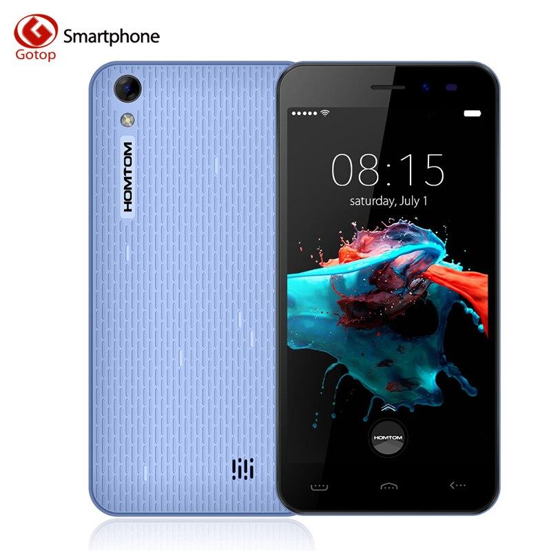 Homtom HT16 5.0 Дюймов Смартфон Android 6.0 MT6580 Четырехъядерный Мобильный телефон 1 ГБ RAM 8 ГБ ROM 3000 мАч 3 Г WCDMA Разблокирована Сотовый Телефон