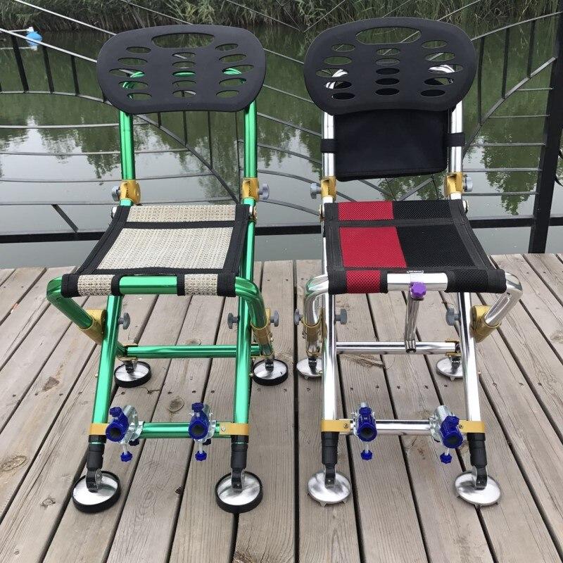 Tout-terrain 2018 nouvelle chaise de pêche chaise d'extérieur pliante multifonctionnelle sauvage chaise de camping chaise de jardin