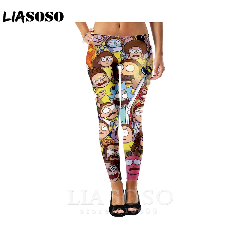 3d Print Men Women Full Length Rick Morty Fashion Hip Hop Harajuku Leggings Sweatpants Winter Pants Anime Jogger Trousers E793