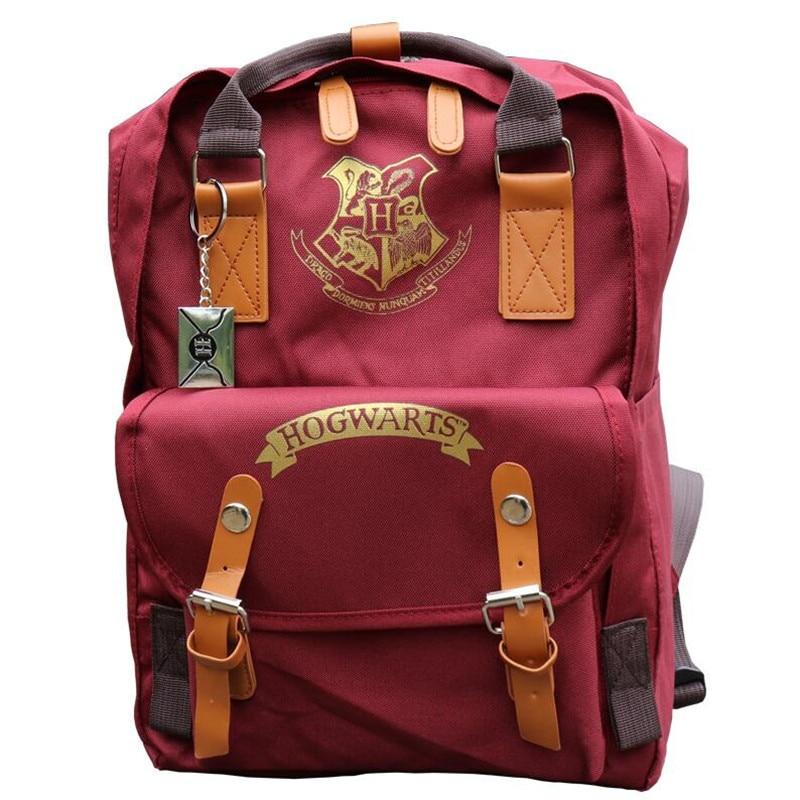 Hot New Movie Harry Potter Backpack Hogwarts Cosplay Costumes Bag Vintage Travel Bag Red Students School Bag Backpack Gift