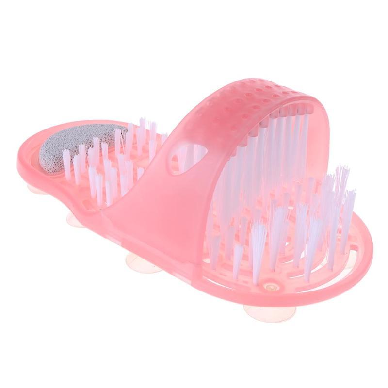 Kunststoff Bad Schuhbürste Bimsstein Fuß Wäscher Dusche Pinsel-massagegerät Hausschuhe Blau Rosa Bürsten Bad Produkte 28*14*10 cm