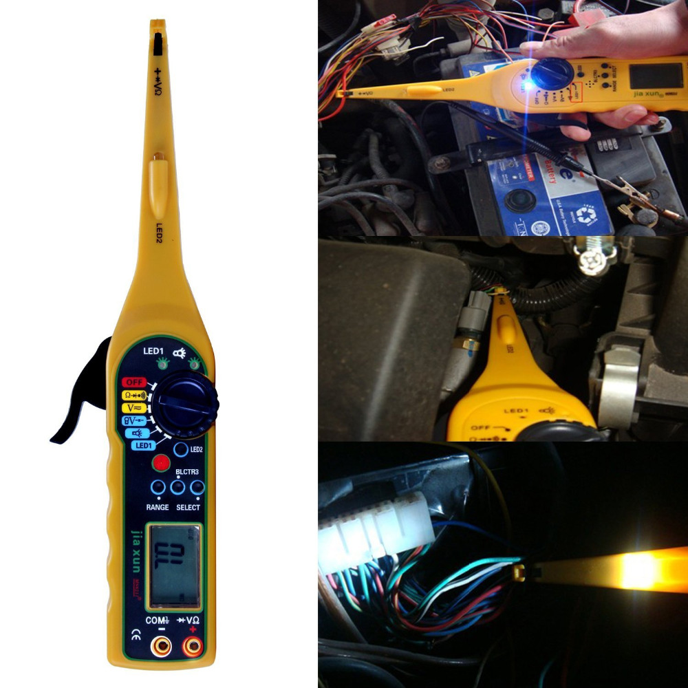 Multi Function Auto Circuit Tester Multimeter Lamp Car Repair Electrical Automotive Testers 0v 380v Voltage