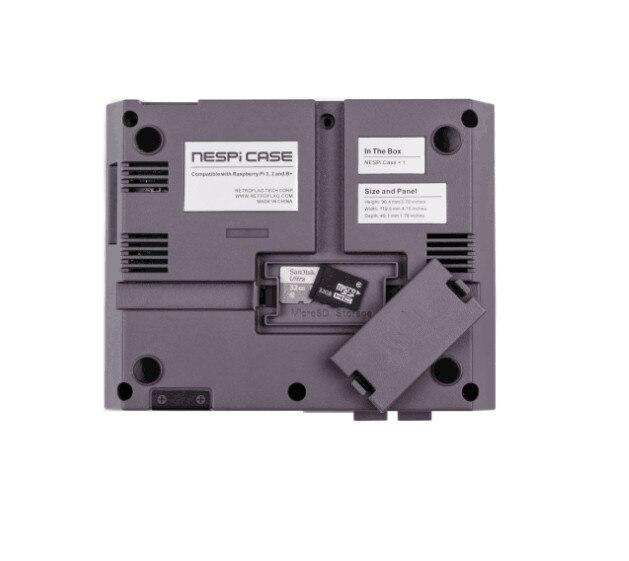 Cdragon Raspberry Pi 3 NESPi Case Retroflag Box for Raspberry Pi 3 2 B+ Plastic RPI 3 Case Classical N ES Style Portable DIY Kit