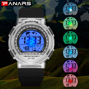 Clock Wrist-Watch Sport Waterproof Electronic Women And Student Couple Multifunctional