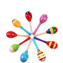 Baby Kid Wooden Ball Toys Sand Hammer Rattle Musical Instrument Percussion Infant toddler toys baby toys infant learning toys